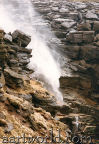 sometime the wind is so strong that Kinder Downfall is blown back up befiore the  w ater reaches the bottom