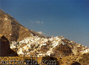Karpathos - Olymbos high on the flank of the mountain of Profitis Ilias
