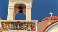 Karpathos - detail on the church tower