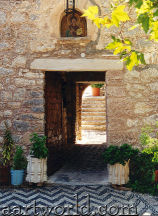 Tilos - the entrance to Pandeleimon monastery