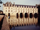 The chateau at Chenonceax relected in the River Loire